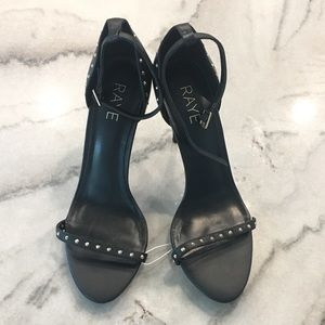 RAYE// studded stiletto with ankle clasp, size 9.5